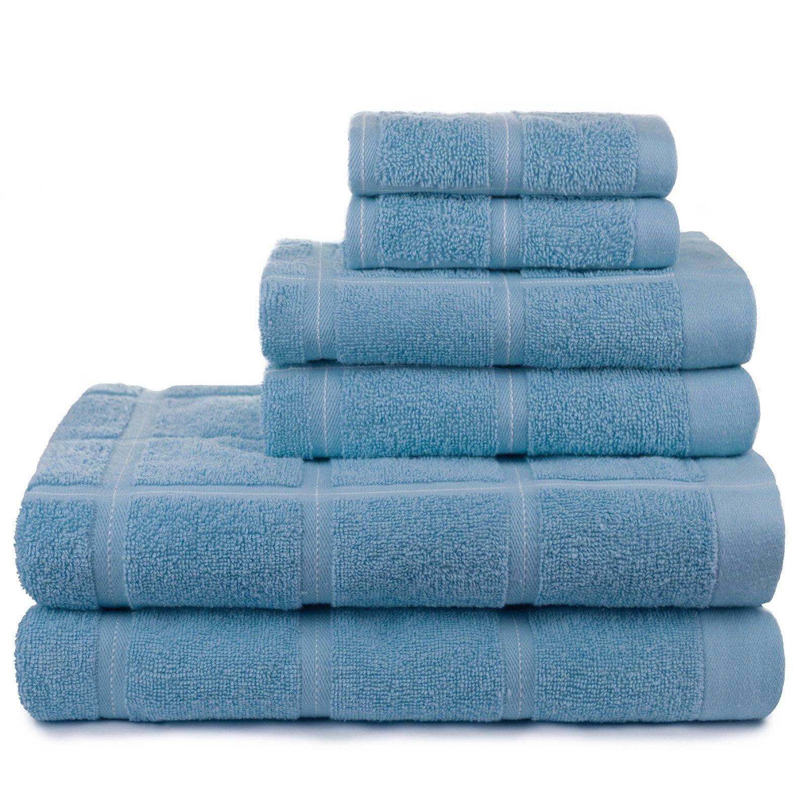 American Dawn Kempster 6 Piece Bath Towel Set Dusk Blue Towel Set Bath Towel Sets Bath Towels