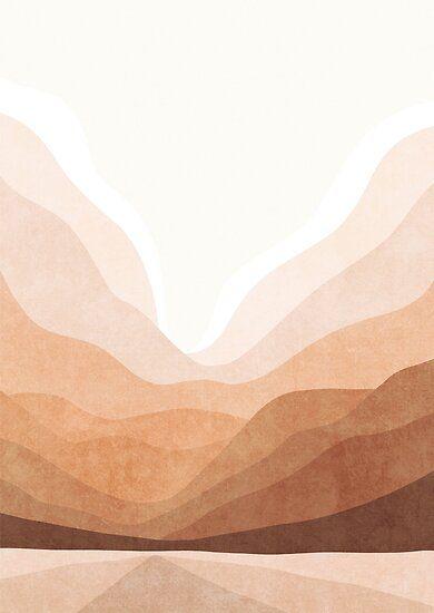 'Warm mountain landscape' Poster by Miss-Belle