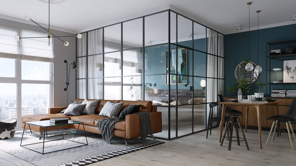Impressive 500Squarefoot Apartment Has Everything You Need Amazing One Bedroom Apartment Designs Example Design Decoration
