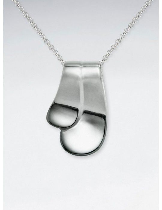 Rizo Pendant, Sterling Silver