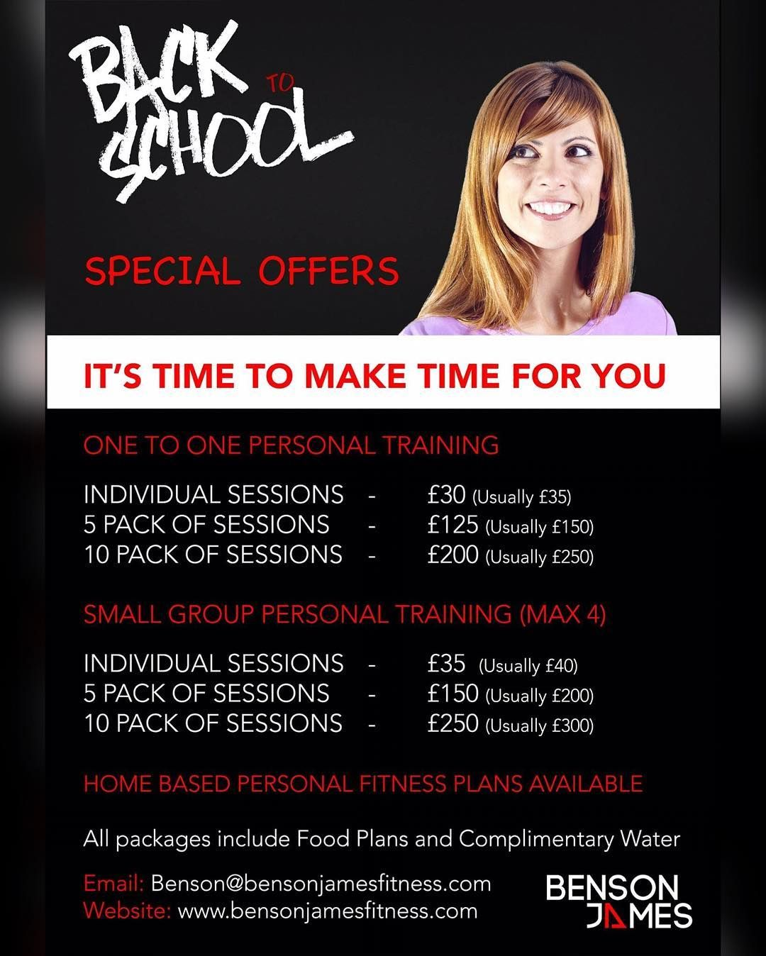 BACK TO SCHOOL :-) HAVE YOU LET THINGS SLIP OVER THE SUMMER? DO YOU FEEL IT'S TIME TO REFOCUS AND GET HEALTHY? DO YOU DESERVE TO INVEST TIME IN TO YOU?  If so take a look at the September promotions. Get started now and save money on getting the results that you want. One to One and Small Group Personal Training available. Inbox for further details.  If you struggle for time but still feel that the support of a professional experienced Trainer/Coach could help you.  Check out the online…