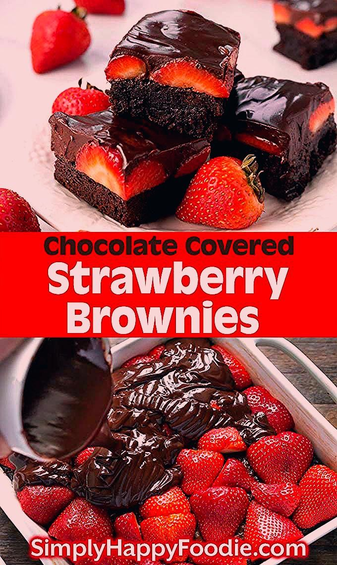 Photo of Chocolate Covered Strawberry Brownies