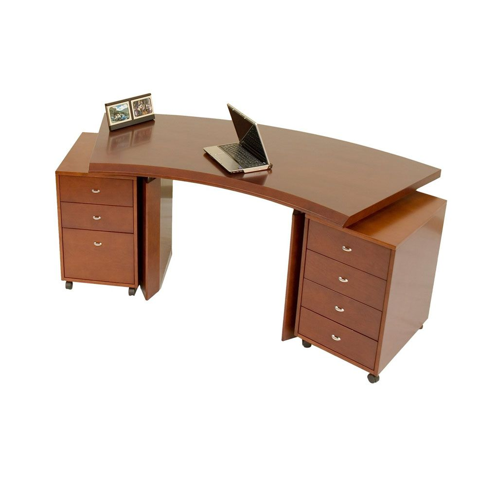 Extreme Curved Office Desk Design Is Not A Constraint To Build A