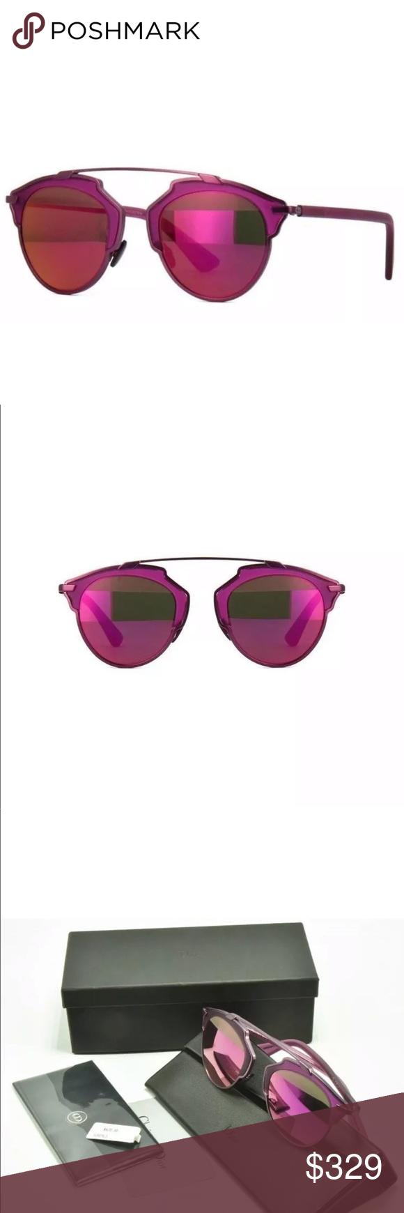db3b190aaa0 Dior So Real Sunglasses Violet RMT Fuchsia Pink Christian Dior So Real S  Sunglasses