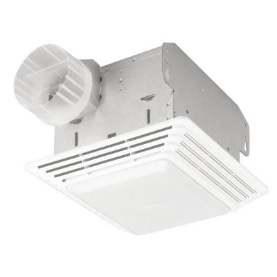 Broan Nutone 50 Cfm Ceiling Bathroom Exhaust Fan With Light 678 The Home Depot Broan Bathroom Ventilation Fan Fan Light
