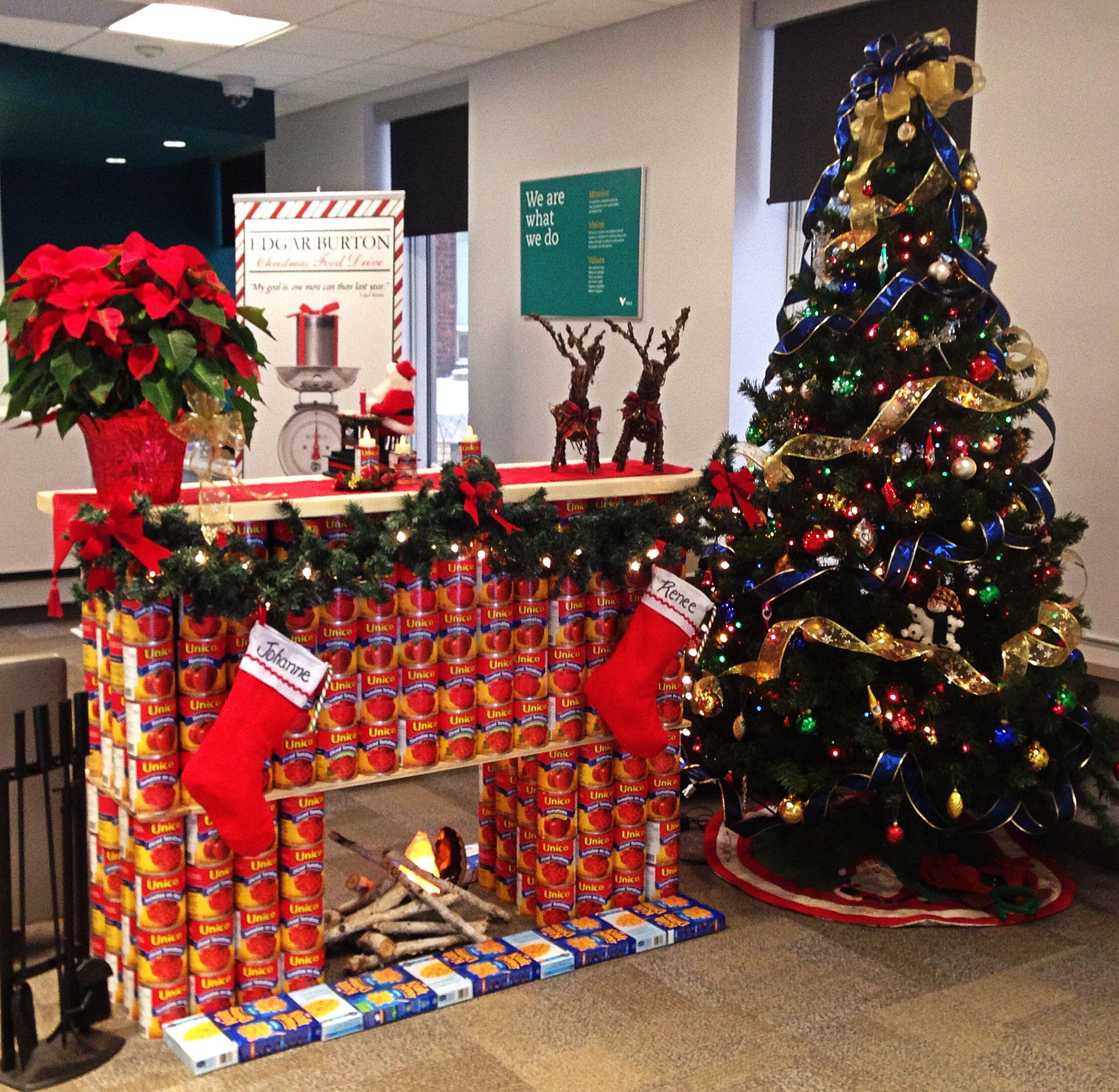Food Display Challenge For Christmas Food Drive Food