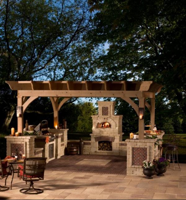 37 Ideen für Outdoor Küche für angenehmes Abendessen im Freien ...