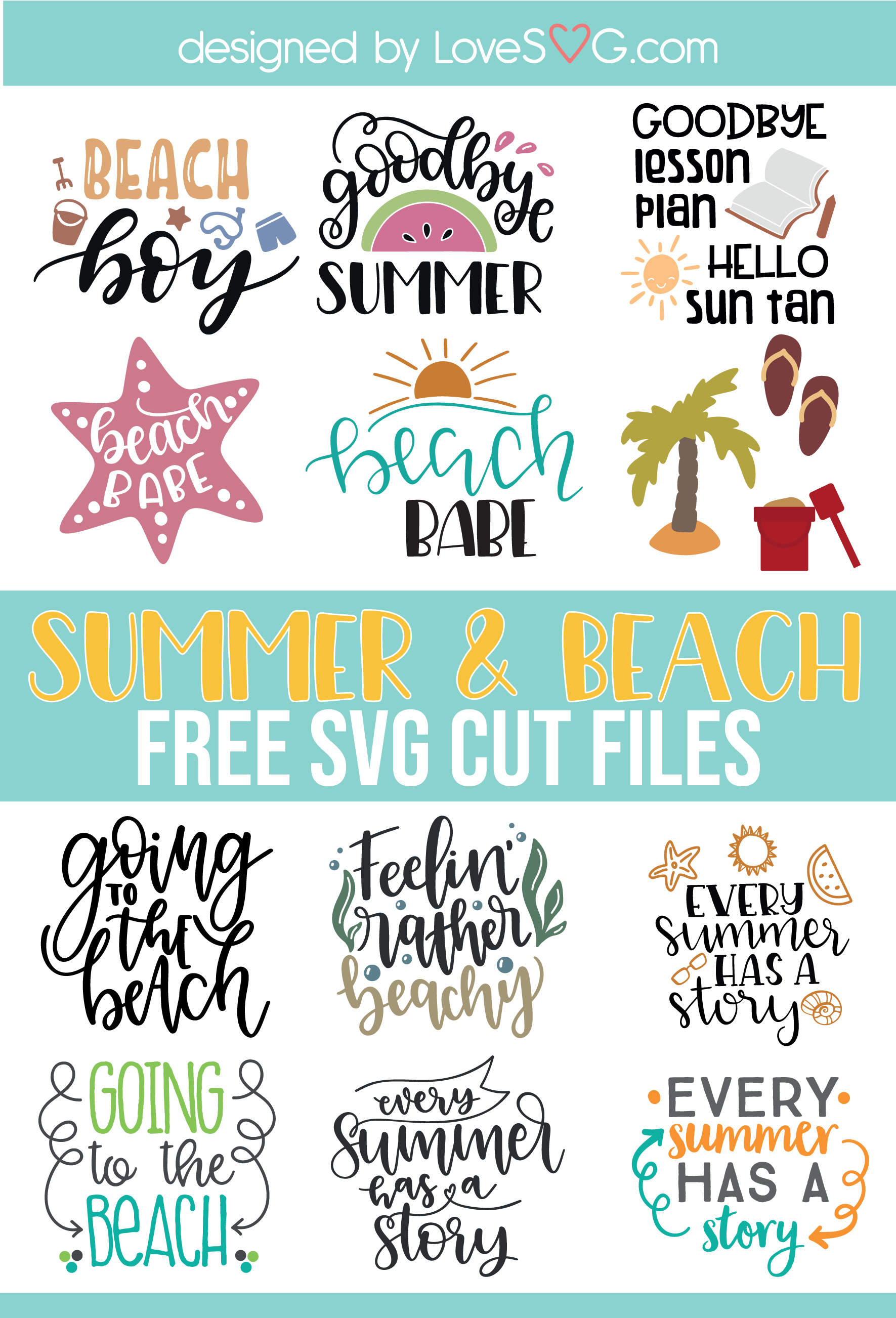 Pin on Free Summer SVG Cut File