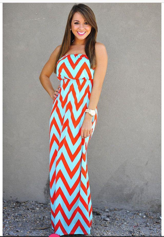 I LOVE LOVE LOVE this Chevron Maxi Dress