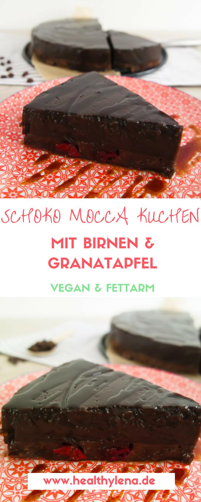 Schoko Mocca Kuchen Mit Birnen Vegan Fettarm Blogger