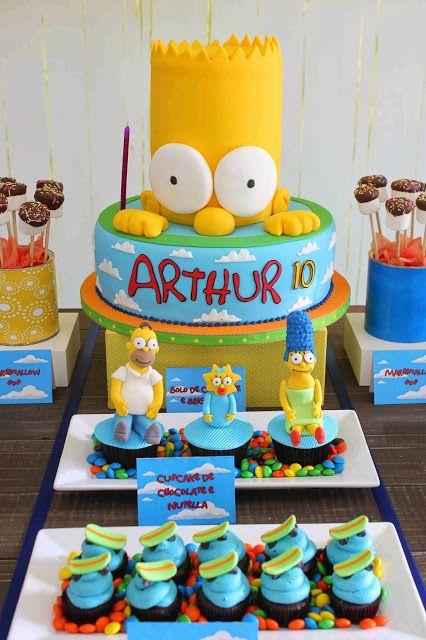 Festa os simpsons festa simpson en 2018 pinterest - Simpson anniversaire ...