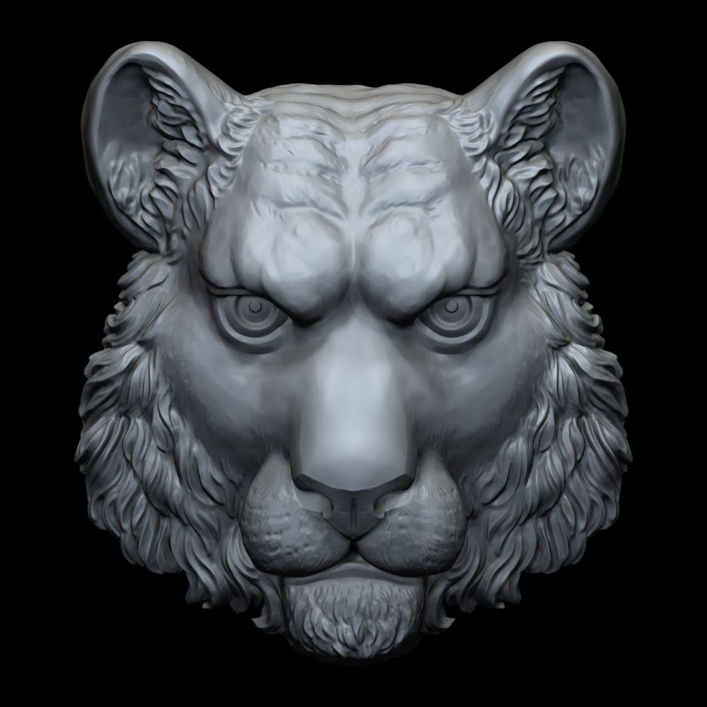 Tiger head 3D print model #head, #Tiger ...