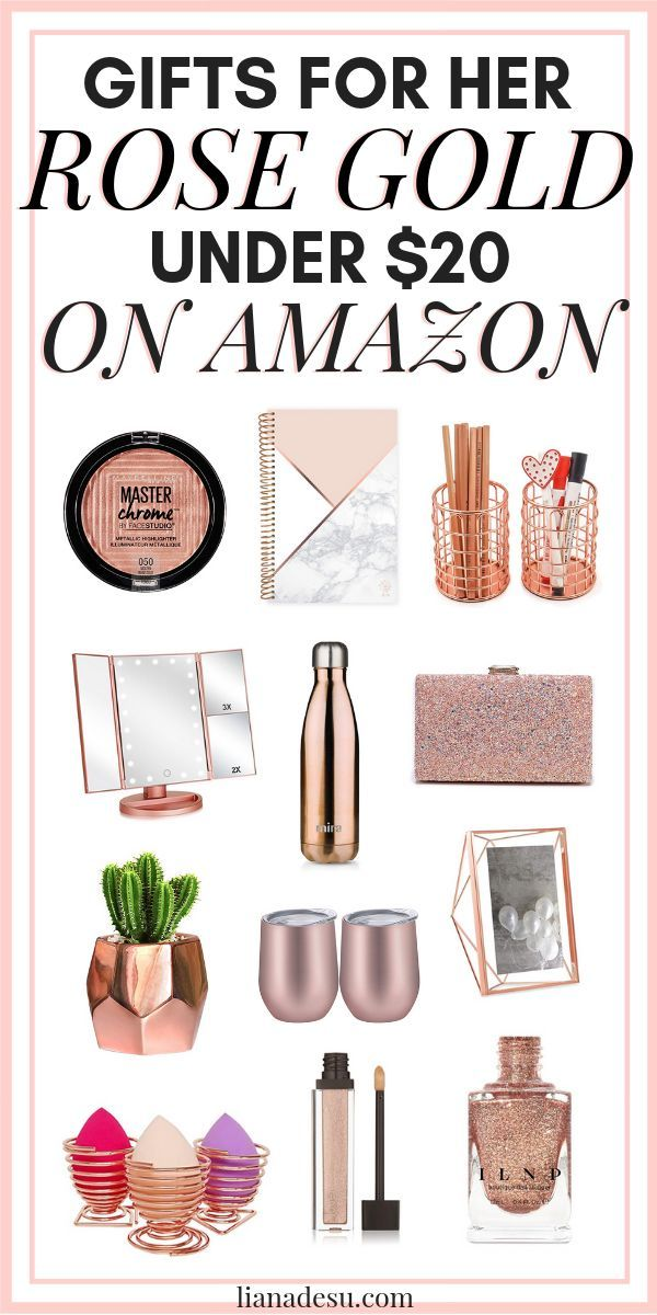 Rose Gold Gifts For Her Under 20 From Amazon Liana Desu Rose Gold Gifts Gifts For Teens Amazon Gifts