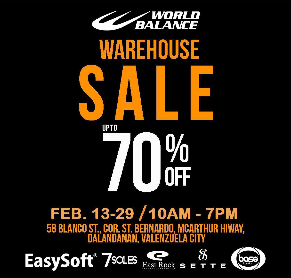 World Balance Warehouse Sale 2020 from