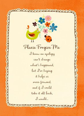 Forgive Me Flowers | Say It With WORDS!!! | Sorry cards, Forgiveness