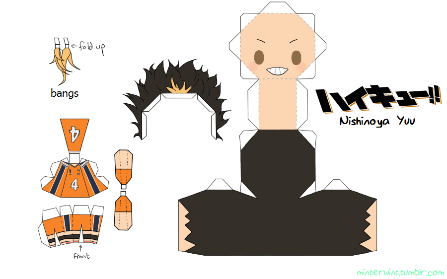 Template Haikyuu Nishinoya Yuu Haikyuu Nishinoya Anime Crafts Anime Paper