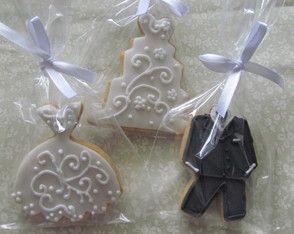 Biscoitos Decorados - Casamento/Noivado.