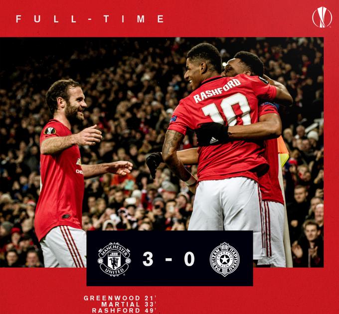 Manchester united vs partizan 3 0 highlights video a uefa