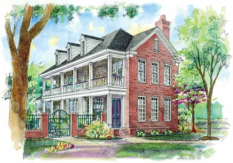 Neoclassical House Plan With 1785 Square Feet And 3 Bedrooms S From Dream Home Source House Plan Code Dhsw54352 House Plans Charleston Style Bay House