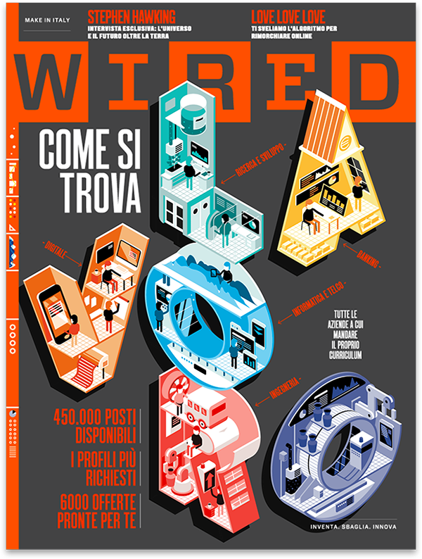 Wired ItalyTHE JOB ISSUELast month Wired Italy ask us to design and ...