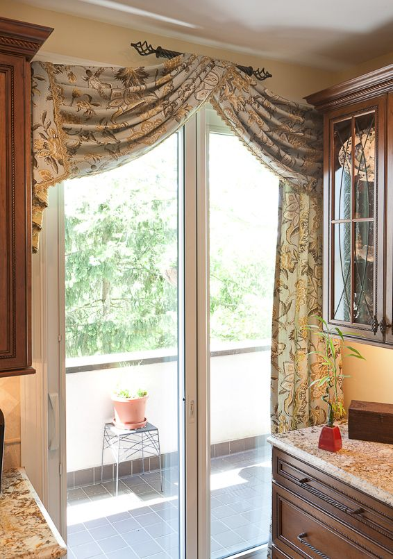 window treatment solutions at sheffield furniture interiors kitchen sliding door curtains. Black Bedroom Furniture Sets. Home Design Ideas