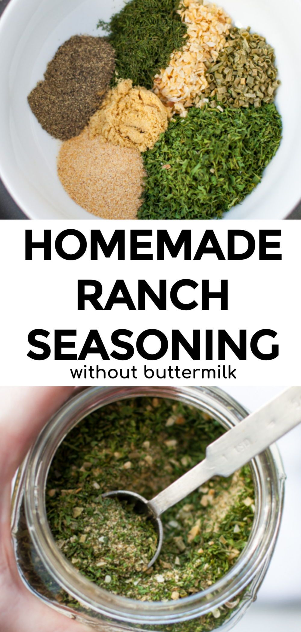Homemade Ranch Seasoning Mix Without Buttermilk In 2020 Homemade Ranch Seasoning Homemade Ranch Ranch Seasoning Mix Recipes