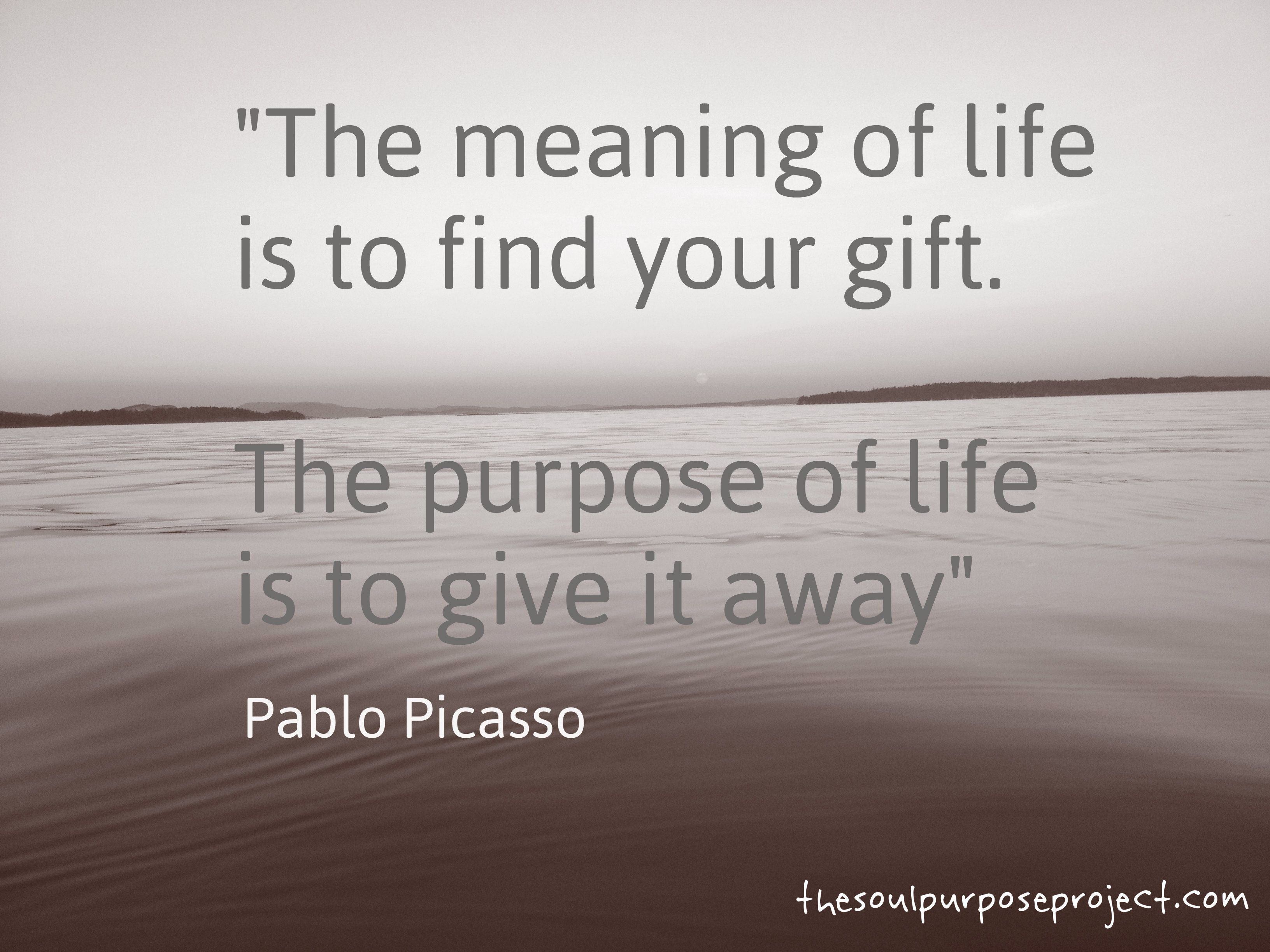 purpose quote the meaning of life is to find your gift the purpose