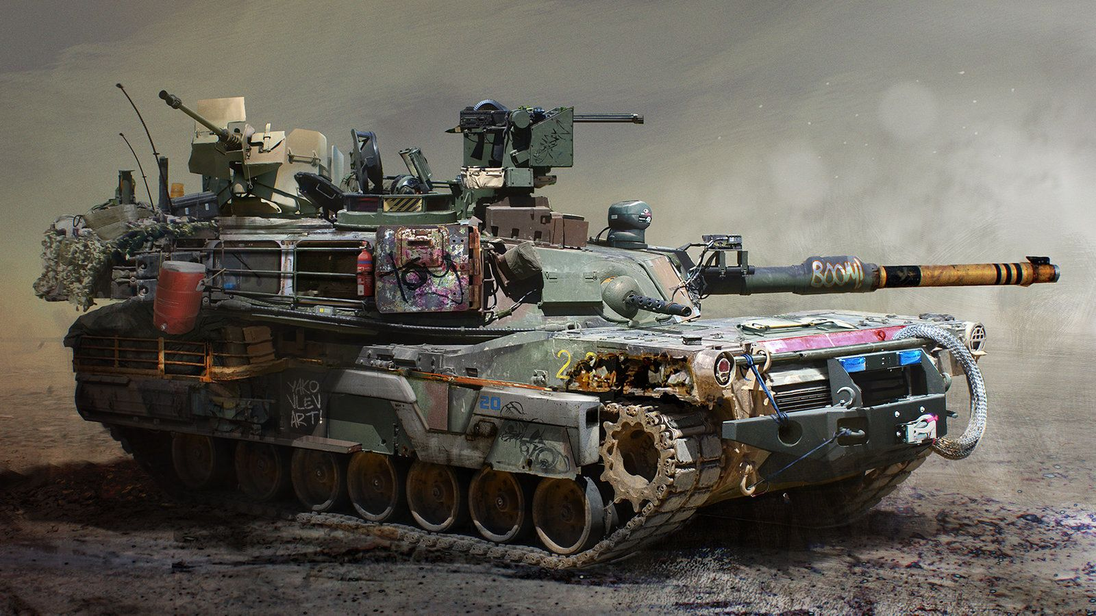 Post apocalyptic tank image i made recently super fun as always learned a lot more about photobashing