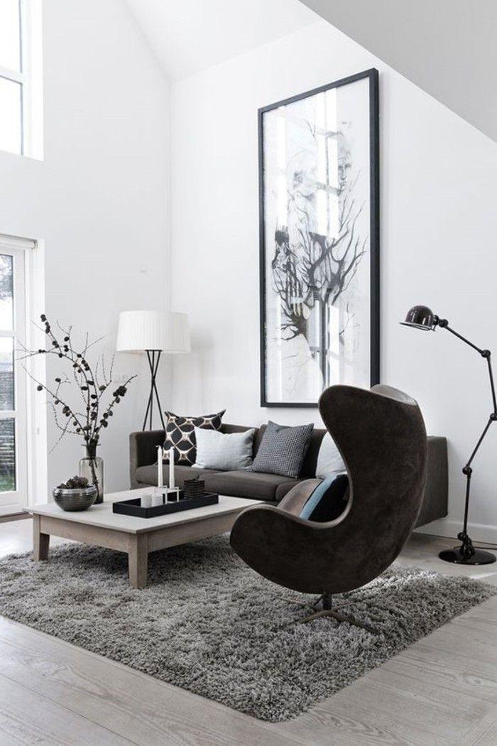 Schwarzer Stuhl - Kombination von Komfort und Stil - Archzine.net #paintinglivingrooms