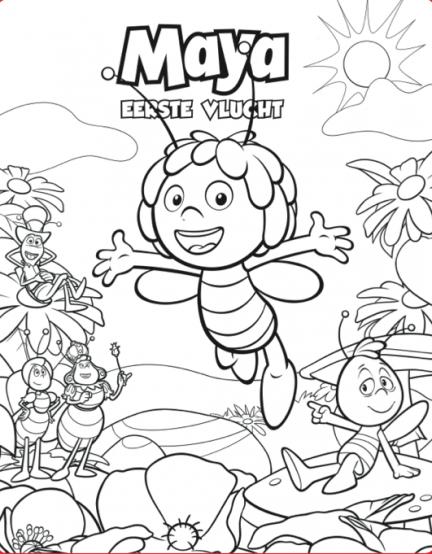 Kleurplaten Maya De Bij.Kleurplaten Maya De Bij Google Zoeken Bijen Snoopy