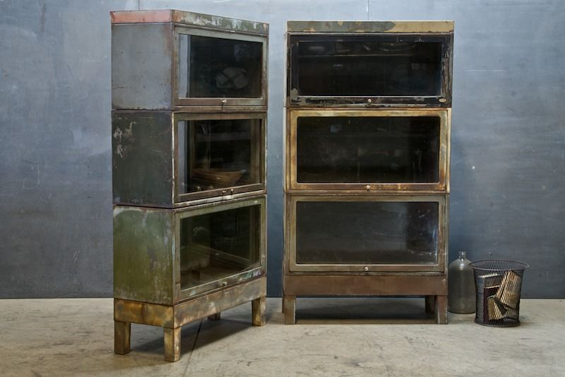 High Quality England, Bentley Vintage Industrial Steel And Glass Modular Stacking  Barrister Cabinets. Height And Configuration Infinite. Highly Functional M
