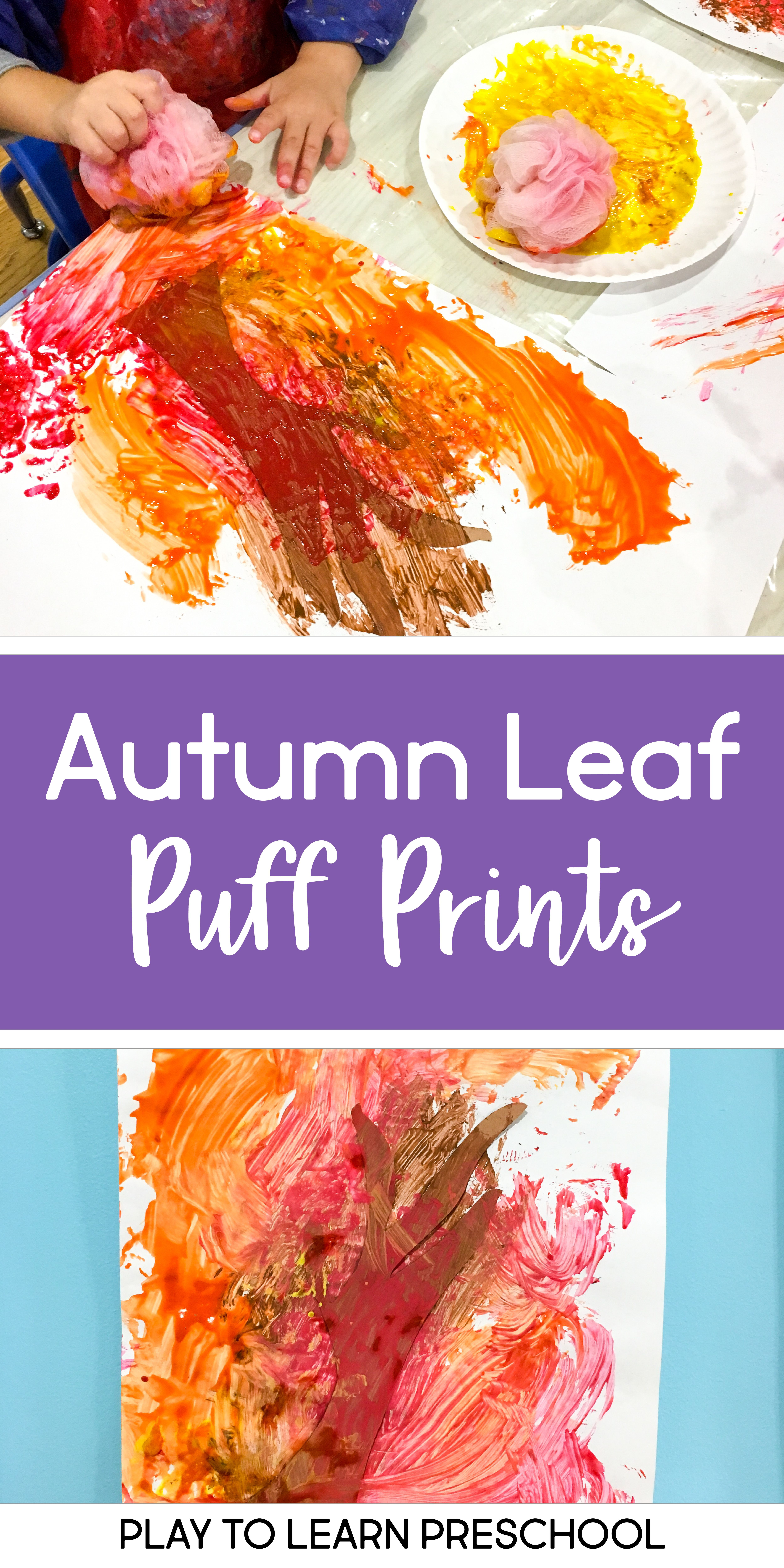 Autumn Leaf Puff Prints