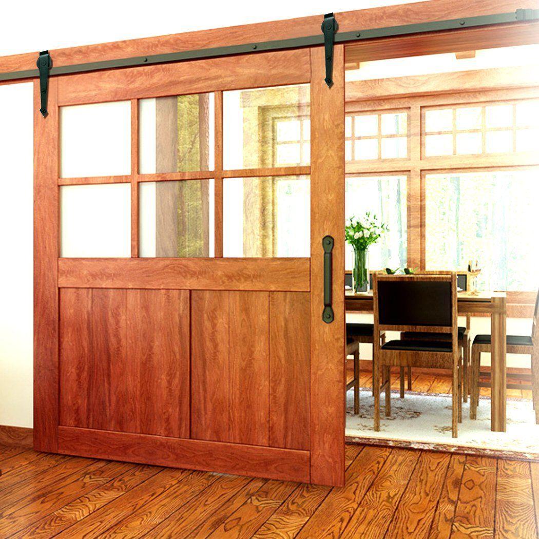 Amazon Com Homdox 6 Foot Barn Wood Sliding Door Hardware Home Improvement Barn Door Decor Barn Doors For Sale Barn Door