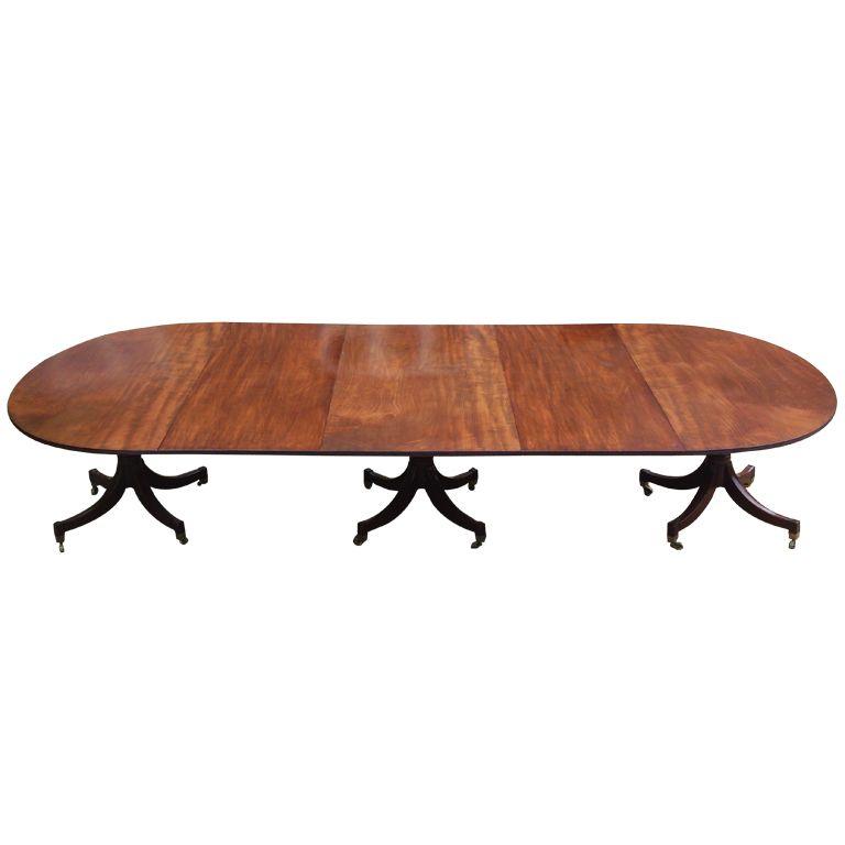 George III Cuban Mahogany Antique Dining Table