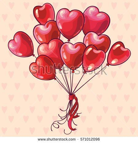 Heart shaped balloons valentines day wedding or birthday greeting heart shaped balloons valentines day wedding or birthday greeting card m4hsunfo