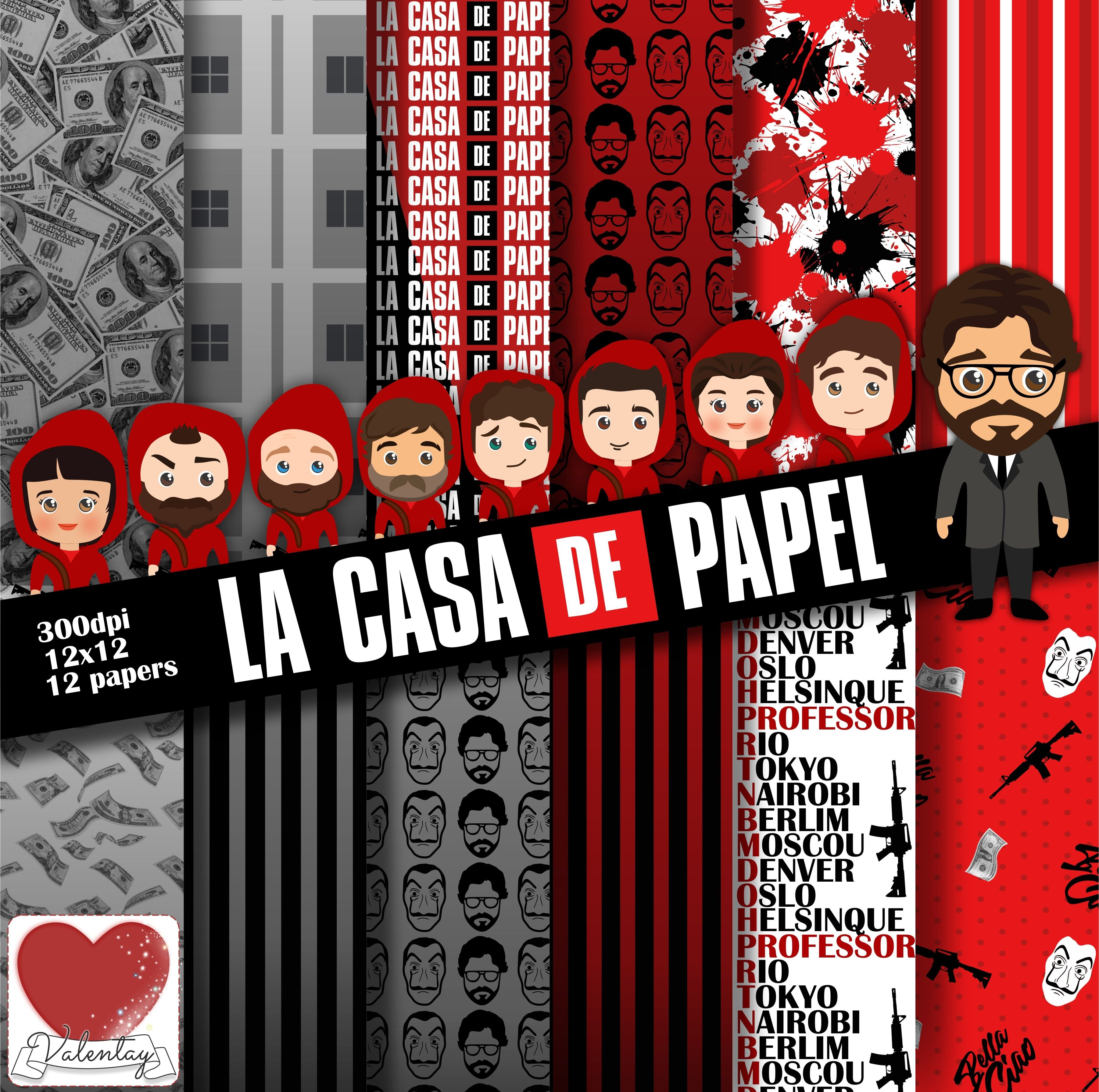 La Casa De Papel Kit Digital Netflix La Casa De Papel Digital