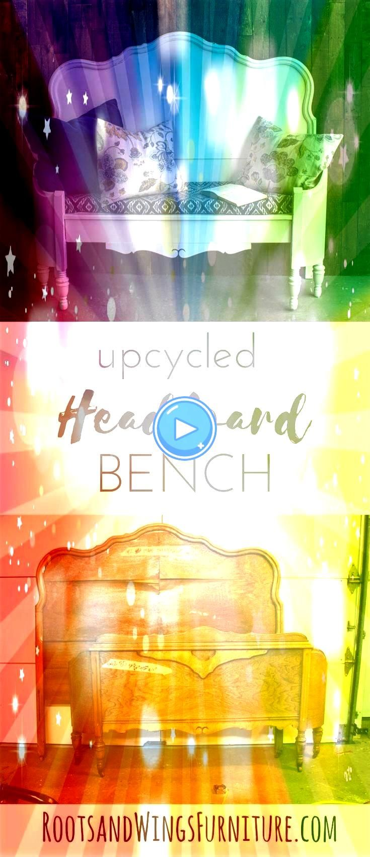 Bench  Roots Learn how to make a headboard bench Repurposing an old headboard View the tutorial hereLearn how to make a headboard bench Repurposing an old headboard View...