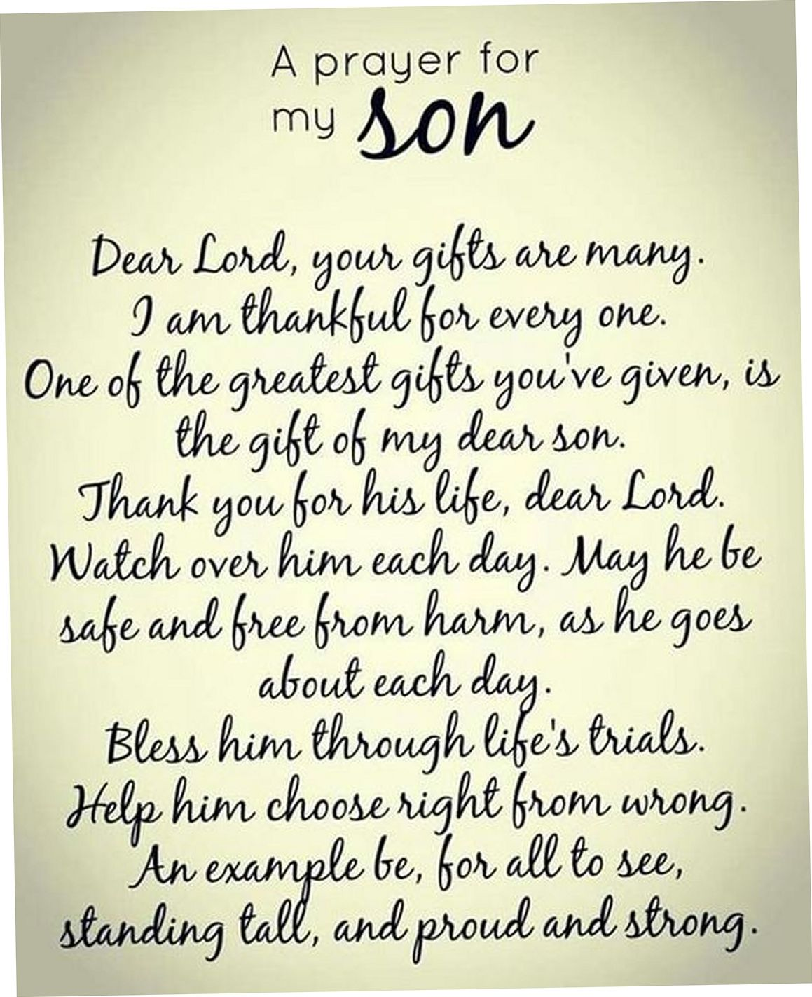 Pin By Marlee Chandler Taylor On Today Prayers Prayer For My Son Prayer For Today Prayer For Son