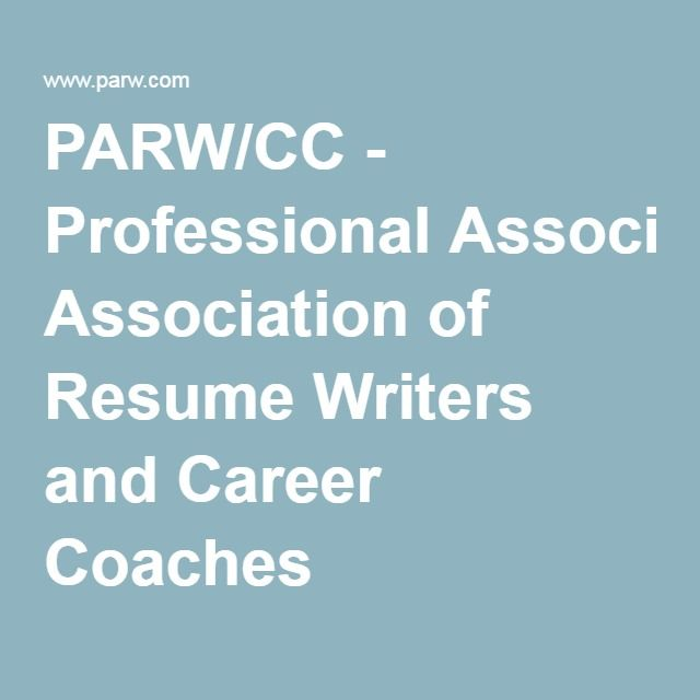 PARW/CC - Professional Association of Resume Writers and Career - resume coach