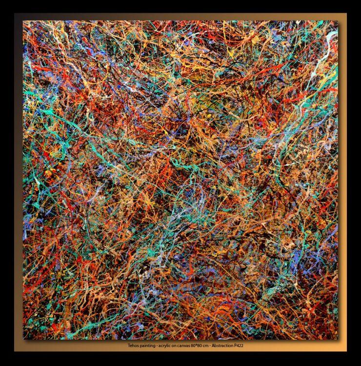 TEHOS (©2013 artmajeur.com/tehos) Tableau de Tehos, acrylique sur toile 80*80 cm - Abstraction P422 Tehos painting - acrylic on canvas 80*80 cm - Abstraction P422 #art