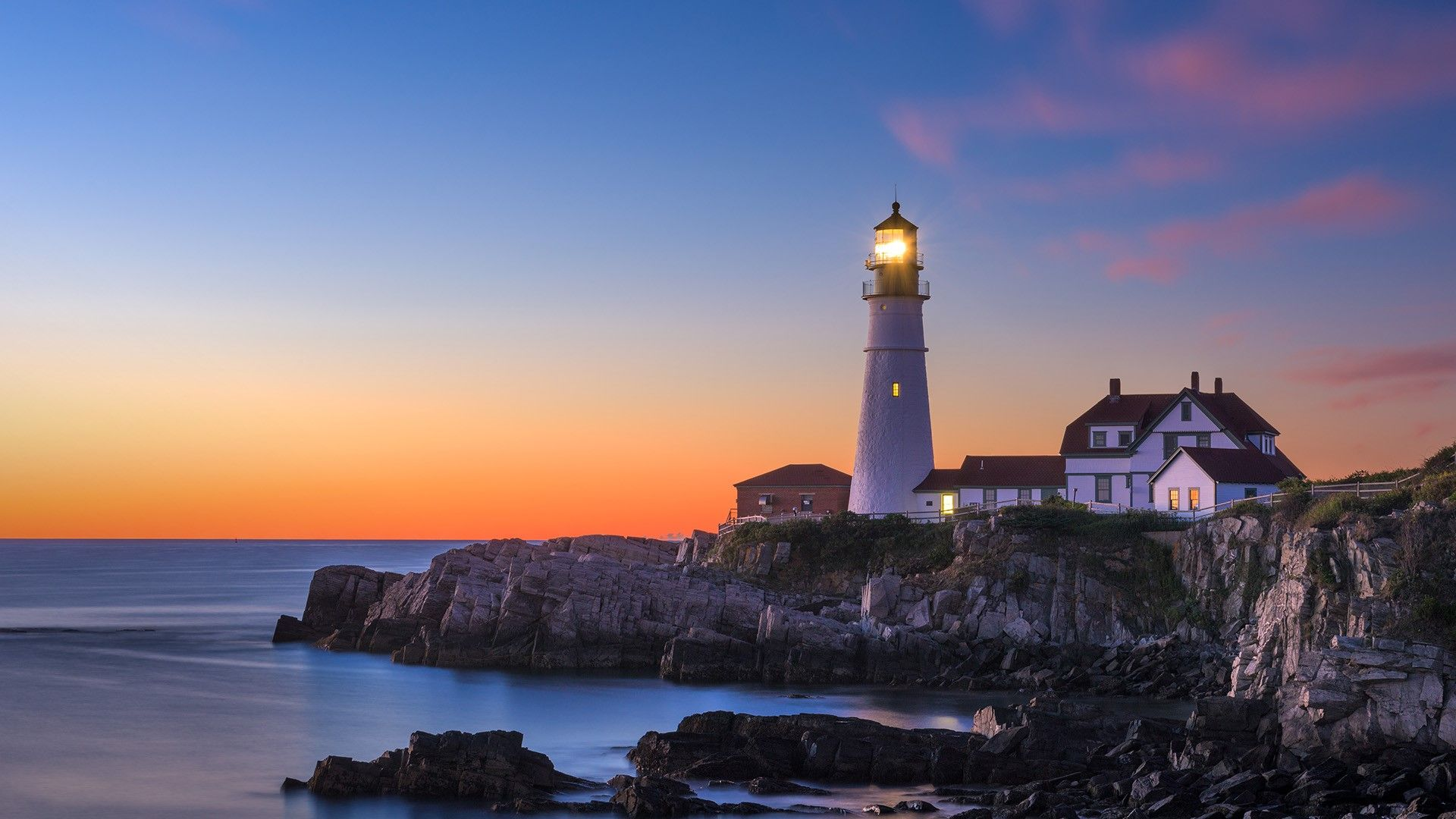 Portland Head Lighthouse, Cape Elizabeth, Maine. [Desktop wallpaper 1920x1080]