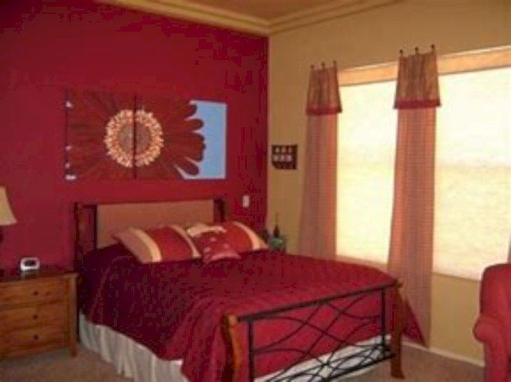 Awesome 20 Gorgeous Red Romantic Bedroom Design Ideas More At Https Trendecora Com 2018 Bedroom Color Schemes Master Bedroom Colors Romantic Bedroom Design