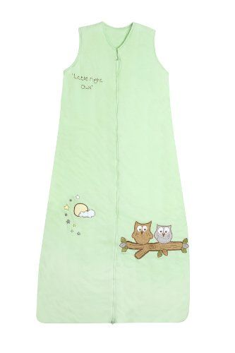Schlummersack Toddler Summer Sleeping Bag approx. 1.0 Tog - Mint Owls - 12-36 months/43inch - $36.99