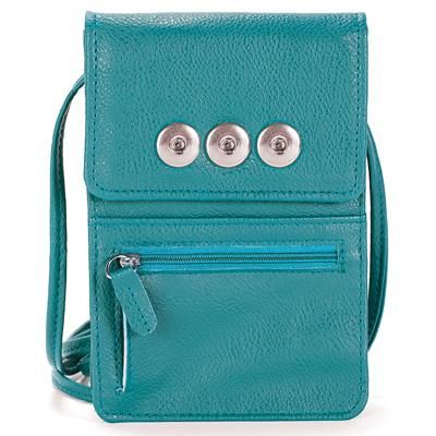 Turquoise Interchangeable Snap Charm Wallet Organizer Snap charms