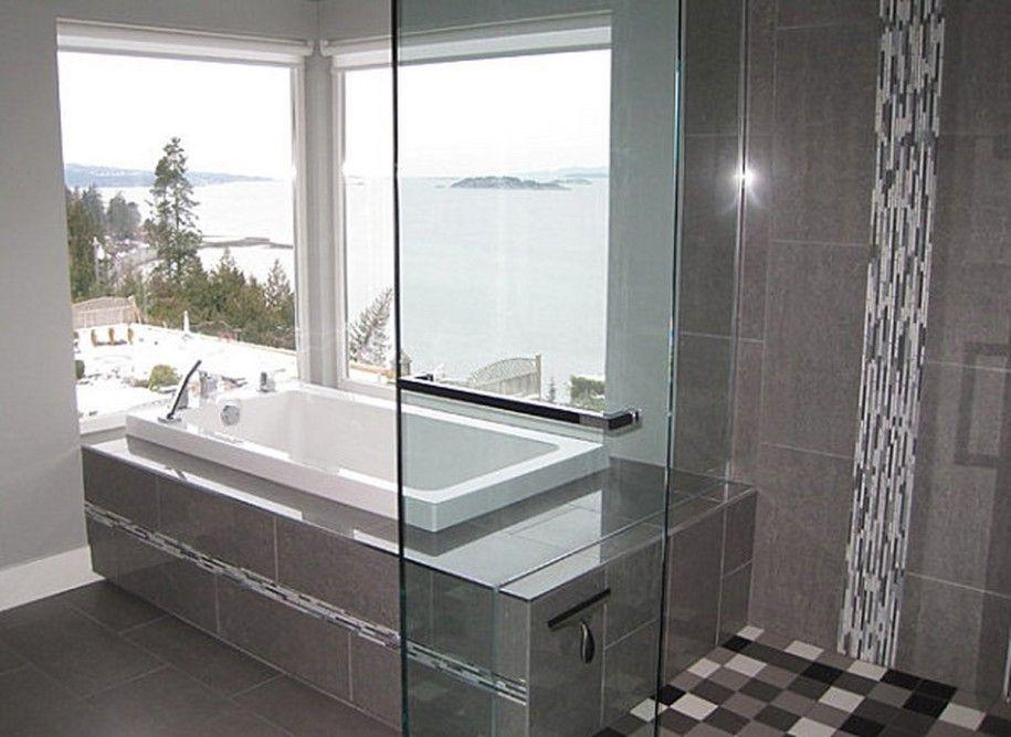modern porcelain shower tile design ideas   ... Soothing Experience ...