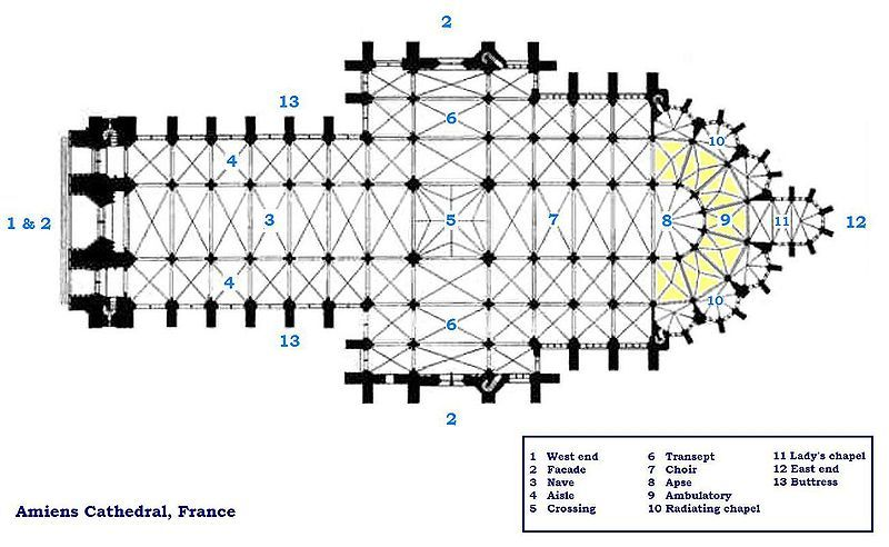 Floor Plan Amiens Cathedral History Gothic