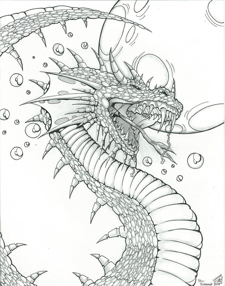 Dragon Design For Fantasy Art By Icgreen On Deviantart Dragon Coloring Page Coloring Pages For Grown Ups Coloring Books