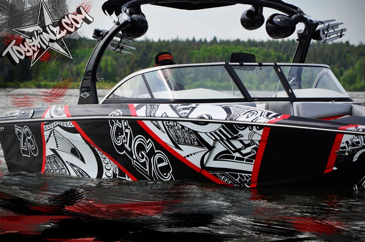 Boat Wraps Portfolio Vinyl Boat Graphics Boat Wraps Wake - Sporting boat decalsbest boat wraps custom vinyl images on pinterest boat wraps