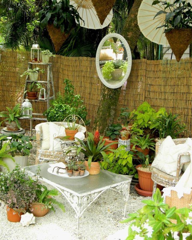 Gestaltung der Außenräume bambusmatten sichtschutz pflanzen - ideen tipps gestaltung aussenraume
