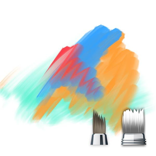 Sketchbook Pro Synthentic And Blending Brushes Blending Several